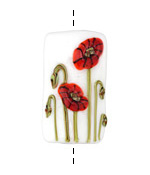 Grace Lampwork Poppy Fields Kalera 19-20x38-39mm