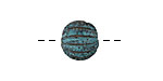 Greek Copper (plated) Patina Sea Urchin Round Bead (large hole) 12mm