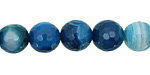Sky Blue Line Agate Faceted Round 12mm