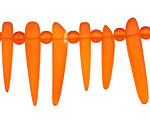 Tangerine Recycled Glass Tusk 4-6x22-30mm