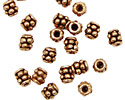 Antique Copper Spacer with Double Beaded Ring 6x4mm