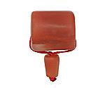 Red Agate Matte Barrel Guru Bead 20mm