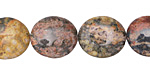 Leopardskin Jasper Flat Oval 16x14mm
