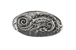 Green Girl Pewter Celtic Dragon Link 33x17mm