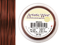 Artistic Wire Brown 24 gauge, 20 yards