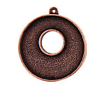 Nunn Design Antique Copper (plated) Grande Circle Bezel Toggle 37x32mm