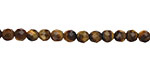 Tiger Eye Faceted Round 4mm