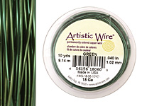 Artistic Wire Green 18 gauge, 10 yards