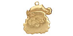 Brass Santa Face 19x24mm
