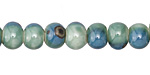 Ocean Blue Porcelain Tumbled Rondelle 7x10mm