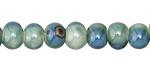 Ocean Blue Porcelain Tumbled Rondelle 7x9.5mm