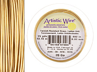 Artistic Wire Tarnish Resistant Brass 20 gauge, 15 yards