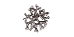 Zola Elements Antique Silver Finish Coral Focal 18mm