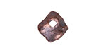 Greek Bronze (plated) Small Hammered Diamond Drop 15mm