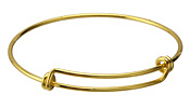 Bright Gold (plated) Adjustable Bangle Bracelet 58mm