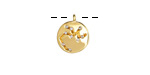 Gold (plated) w/ Crystals Sagittarius Constellation Charm 11x13mm