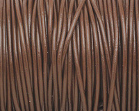 Chocolate Round Leather Cord 2mm