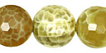 Lime Fire Agate Faceted Round 20mm