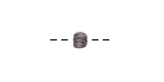Greek Bronze (plated) Tiny Corrugated Bead 4x5mm