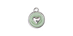 Sweet Mint Enamel Silver (plated) Heart Coin Charm 12mm