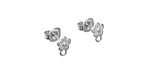 Amoracast Sterling Silver Cherry Blossom w/ Loops Post Earring w/ Back 5x7mm