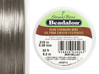 "Beadalon Bright .015"" 7 Strand Wire 30ft."