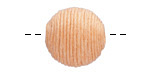 Apricot Thread Wrapped Bead 18mm