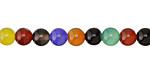 Multi-Color Agate (bold) Round 6mm