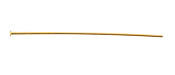 "Gold (plated) Headpin 2"", 20 gauge"