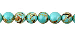 Sea Green Mosaic Shell Round 8mm