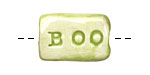 Jangles Ceramic BOO Bead 23-26x14-15mm