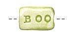 Jangles Ceramic BOO Bead 23-26x14-15mm
