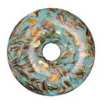 Synthetic Turquoise (light) & Bronzite Donut 50mm