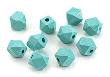 Turquoise Wood Faceted Nugget 10mm