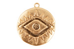 Zola Elements Matte Gold Finish Evil Eye Coin Focal 26x30mm