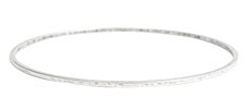 Nunn Design Antique Silver (plated) Small Flat Bangle Bracelet 70mm
