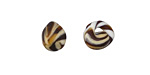 Unicorne Beads Tiger Stripes Teardrop 9-10x9-10mm