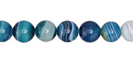 Marine Blue Line Agate Round 8mm