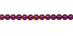 Metallic Purple Hematite (plated) Round 4mm
