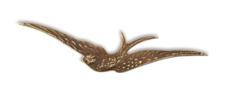 Vintaj Natural Brass Layering Swallow 63x13mm