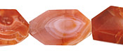 Red Botswana Agate Faceted Flat Slab 23-38x17-28mm