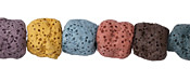 Lava Rock (multi-color) Barrel 11-12x9-13mm