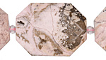 Pink Stone Faceted Flat Slab 28-38x22-30mm