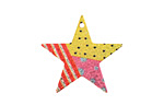 Carnival Etched & Printed Gold Finish Star Focal 25x24mm