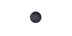 Matte Black Resin Round Cabochon 8mm
