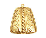 Brass Open Pea Pod Pendant 30x35mm