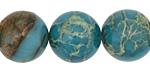 Turquoise Impression Jasper Round 18mm
