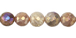 Peach Moonstone w/ AB Luster Faceted Round 10mm