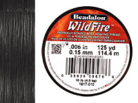"WildFire Black .006"" Thread, 125 yards"