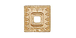 Zola Elements Matte Gold (plated) Decorative Square Bezel 7mm Flat Cord Slide 18mm